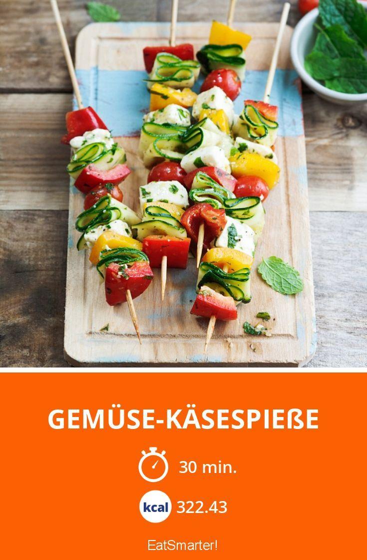 Gemüse-Käsespieße - smarter - Kalorien: 322.43 Kcal - Zeit: 30 Min. | eatsmarter.de