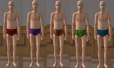 ModTheSims - Elder Male Swimwear ON ELDER BODY!