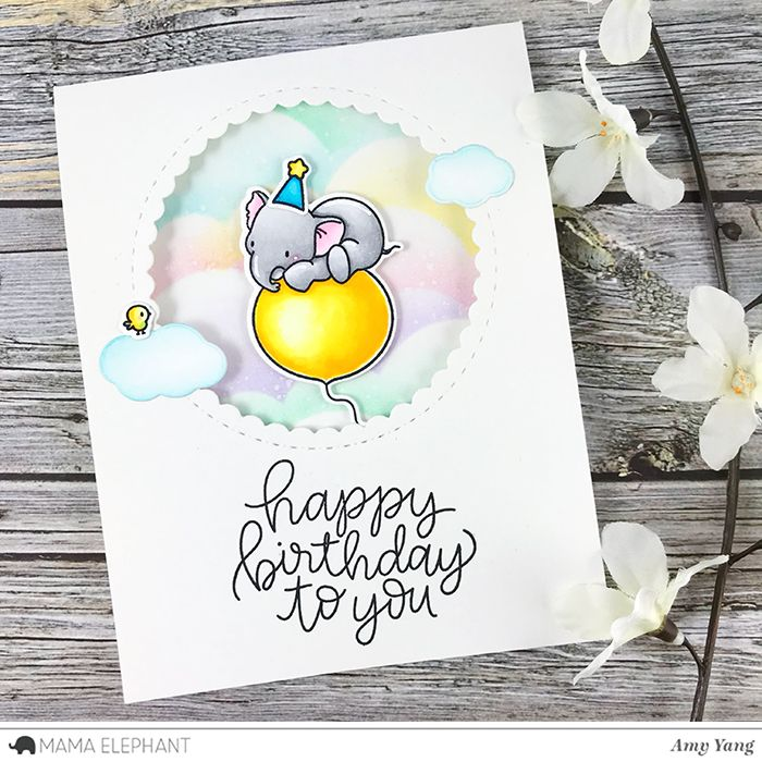 Mama Elephant Designer Series Happy Birthday To You With Images