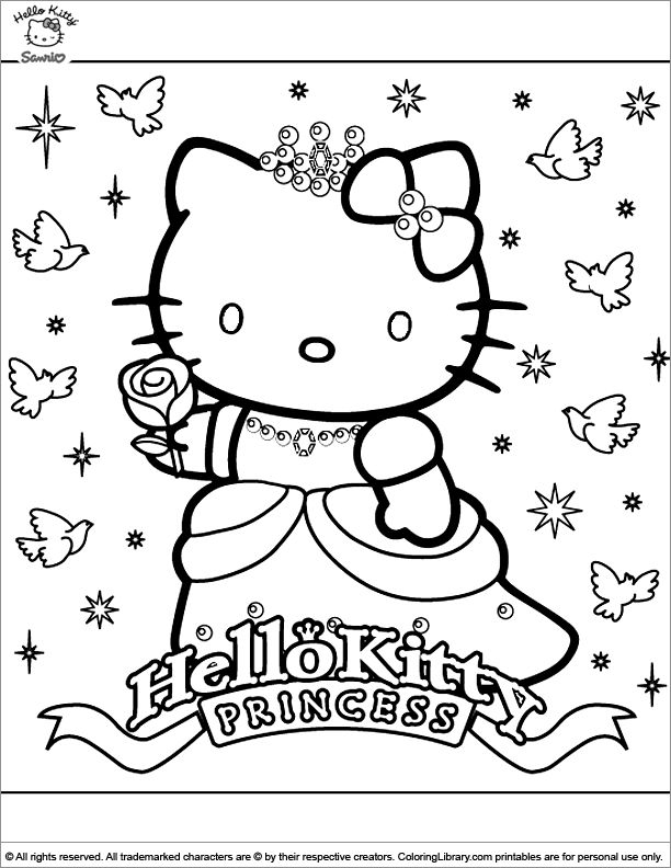 Coloring Pages Hello Kitty Dolphin : Best hello kittie coloring images on pinterest
