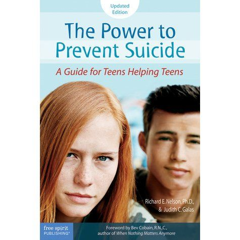 Updated with new facts, statistics, and resources, this book gives teens the information and insight they need to recognize the risk and respond appropriately. It spells out the warning signs, guides teens through the steps of reaching out to a friend, and explains when and how to seek help. See if it is available: http://www.library.cbhs.school.nz/oliver/libraryHome.do