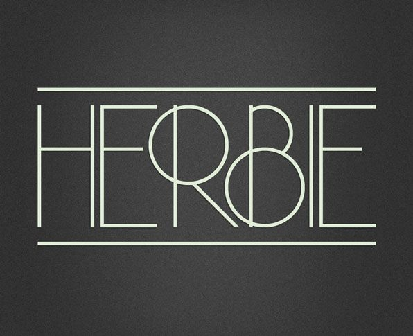 Herbie, the newest typeface born out of the mind of Morten Iveland of Infamous Foundry, is a beautiful display typeface based on the geometric lines and circles of Herb Lubalin's work in the late 60′s and early 70′s.
