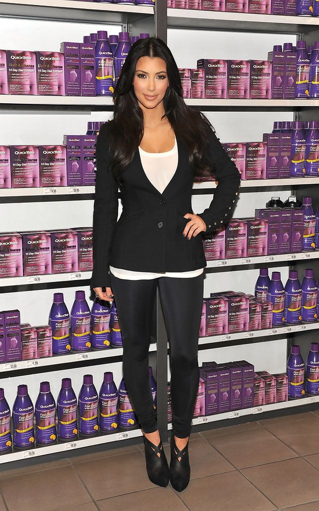 Reality TV star Kim Kardashian introduces QuickTrim at the GNC store at the Beverly Center on October 15, 2009 in West Hollywood, California.