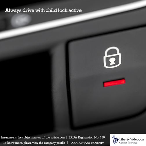 If your little one accidentally pulls the door knob, child lock will always be their saviour. But, be sure to lock it every time you drive.  #RoadTips