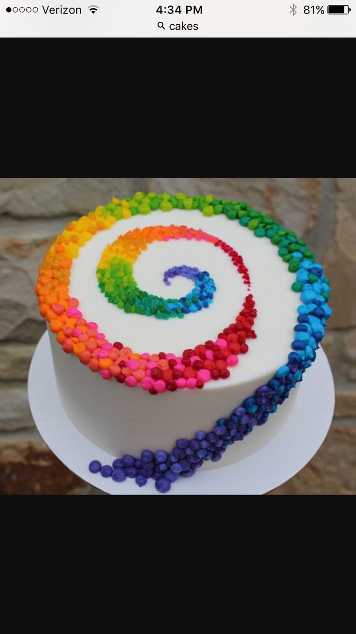 Such a colorful looking cake!