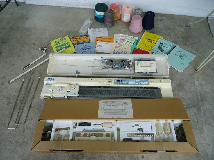 Vintage Brother KH 940 Electronic Knitting Machine with Brother KR 850 Ribber