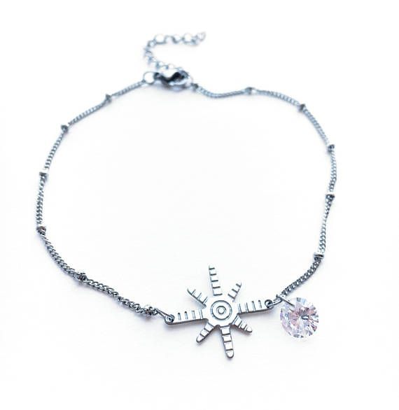Star Anklet Silver Anklet Star Jewelry Star Ankle