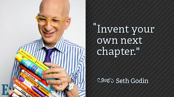 Seth Godin - 'Invent Your Own Next Chapter'...Kickstarter is an amazing way to generate financial support for worthy ventures.