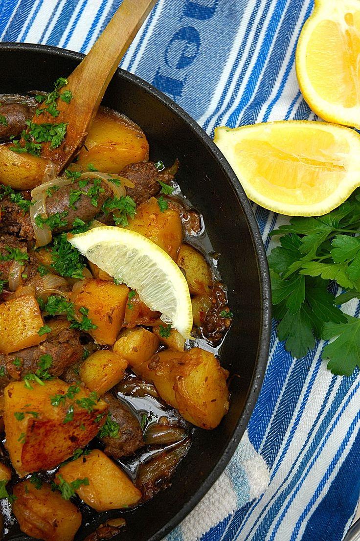 Patatas Bravas with aromatic Boerewors! [ NYBiltong.com ] #biltong #recipe #flavor