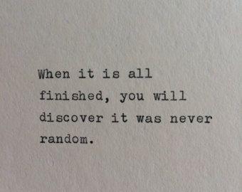Hand Typed Quote On Vinatge Typewriter by WhiteCellarDoor on Etsy