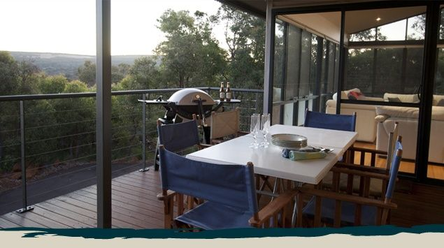 Matilda EB26. Modern pavilion style home nestled on a 1 acre bush block surrounded by Marri and Jarrah trees. The light and bright living areas feature Tasmanian Oak floors and open onto the decking which is perfect for casual outdoor dining while enjoying the rural outlook. Click on the picture to find out more.