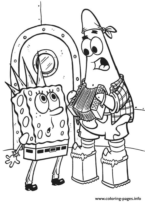 Print Punk Spongebob Coloring Page Free7bb5 Coloring Pages Spongebob Coloring Spongebob Drawings Coloring Pages