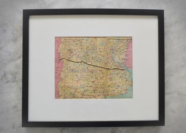 #DIY #MAP #Mapas #Deco #DecoIdeas #Embroidery #Art #Craft #crafts #ctraftsideas