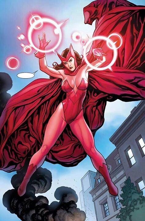 Scarlet Witch artwork by Frank Cho.