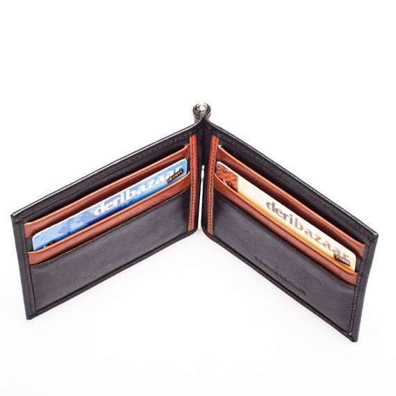 Leather Wallet  Card Holder by DERIBAZAAR on Etsy