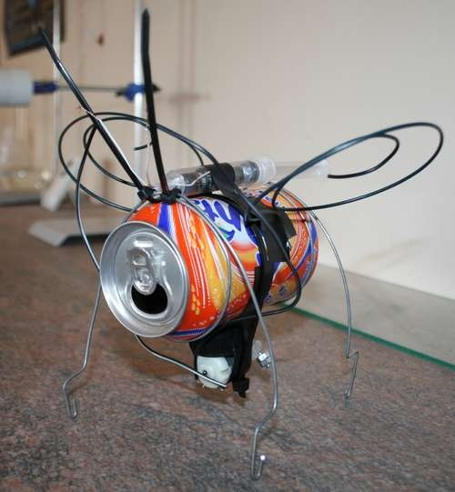 Vibrating insect can robot pinterest insects