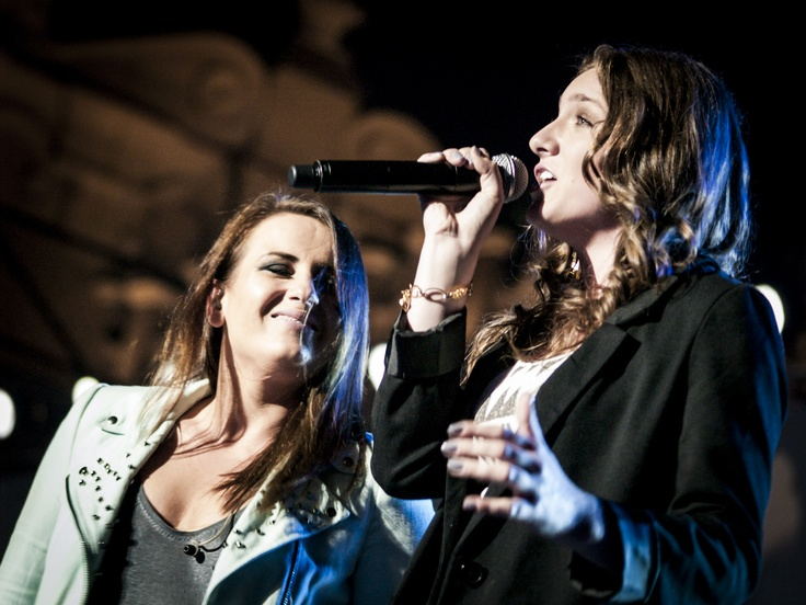Klaudia Borczyk i Kasia #Wilk, 2012 r., #mimowszystko #kraków #muzyka #festiwal fot. Diamonds Factory