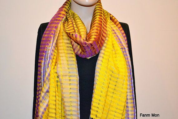Pure silk shwal scarf scarves fall winter outerwear by FanmMon