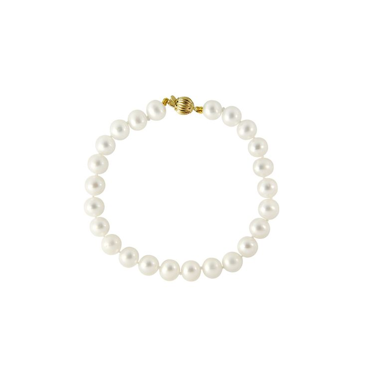 Βραχιόλι με λευκά μαργαριτάρια - G220114