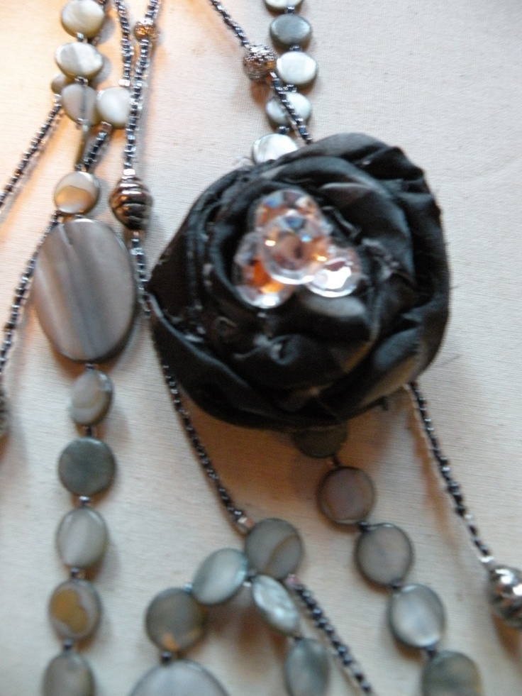 Rosette and necklace: Jewelry, Necklaces, Rosette