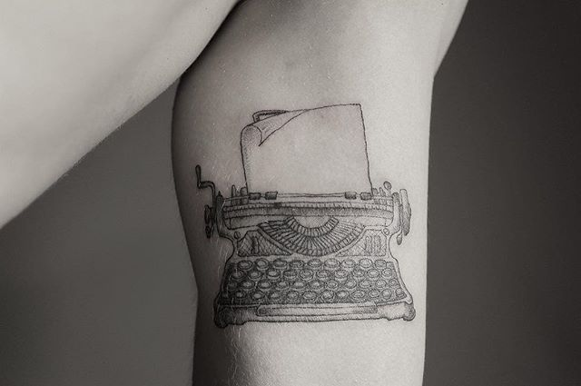 Vintage typewriter #tattoo #tattoos #lineworktattoo #linework #blackworktattoo #blackwork #blackworkers #linetattoo #blinework #ink #inked #tattoodesign #tattooart #tattooing #tattooink #tattrx #tattoistartmag #tattooworkers #dotwork #blackworktattooing #blackworkart #blackandgrey #equilattera #blackworkerssubmission #tattooinrussia #inkstinctsubmission #wiisubmission #tatrussia #iblackwork