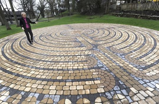 Sam and Jan Hurt's labyrinth in Abingdon, VA. (We have three or four dotted about town.)