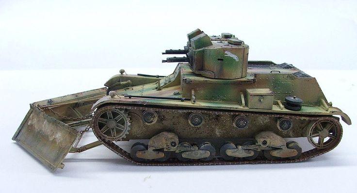 7TP dw Light Tank (1938) snow-plow.