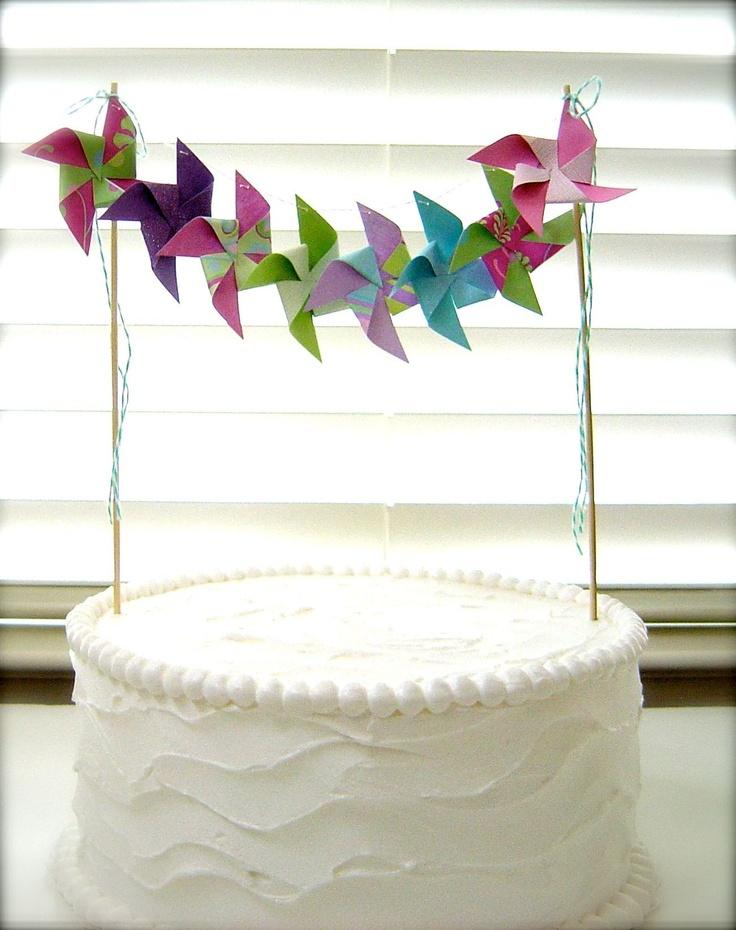 Pinwheel Cake Bunting.  LOVE!!!!!!!!!