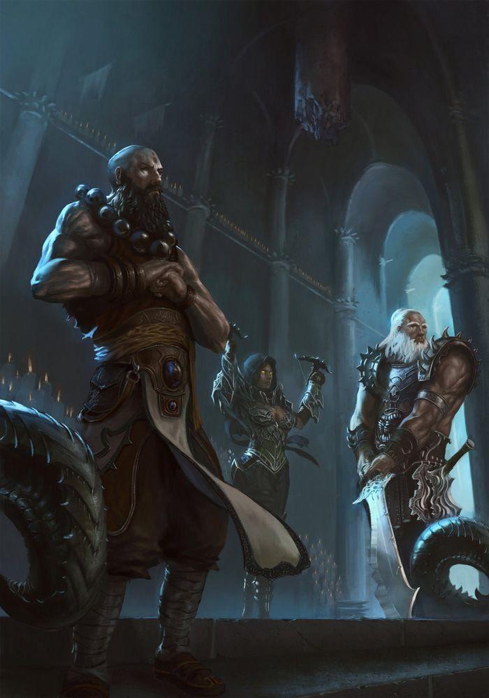 Diablo III: Monk, Barbarian & Demon Hunter | #art #games #diablo3 #blizzard