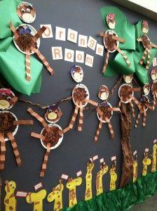 jungle bulletin board idea for toddlers