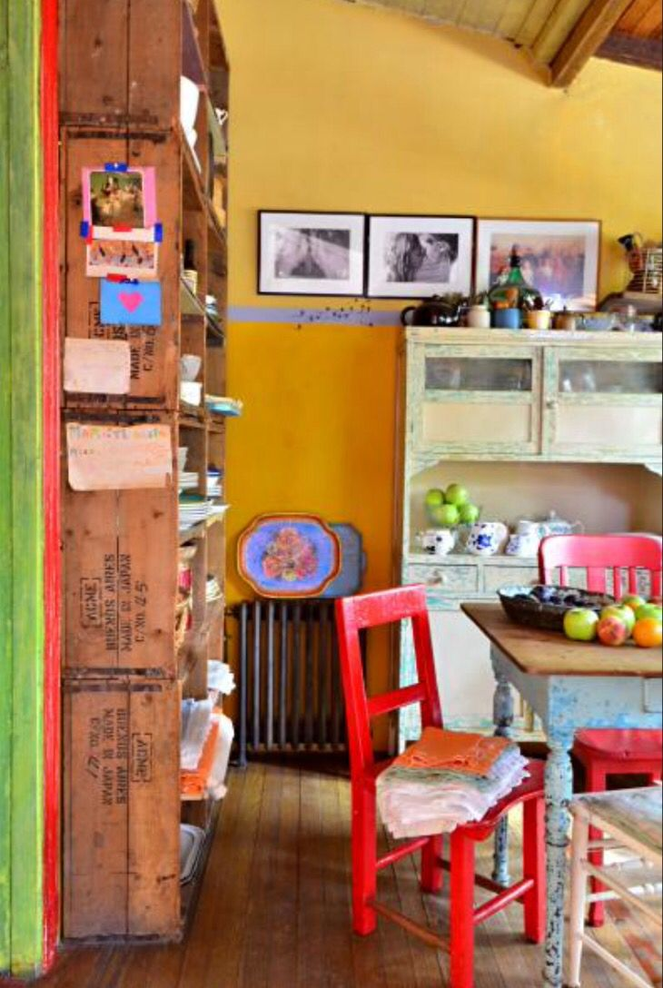 """This colourful dining area is from our feature """"Guest Appearance"""""""