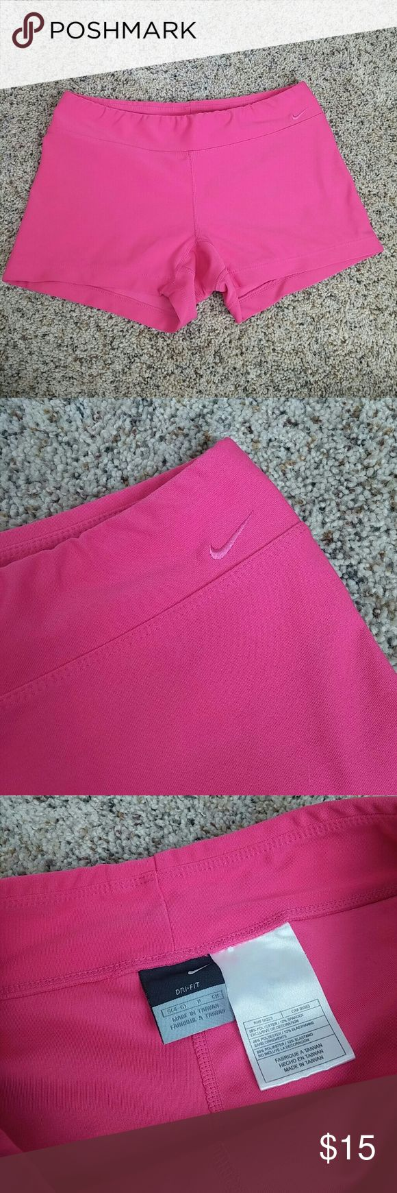 Nike pink shorts dri-fit In excellent condition. Pink fitted shorts. Nike Shorts