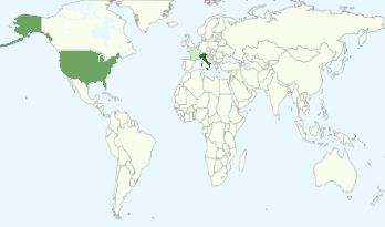 Grafico dei Paesi con il maggior numero di persone che visualizzano i blog