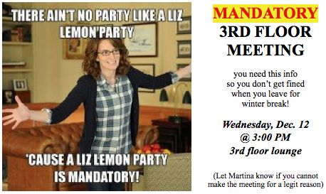 mandatory wing meeting