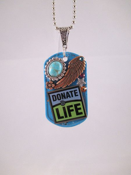 Donate life tag. I love it!!