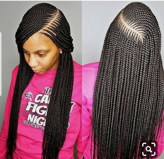 Grande Perruque Tressee De Cornrow Perruque De Dentelle De Etsy In 2020 African Braids Styles African Hair Braiding Styles African Hairstyles
