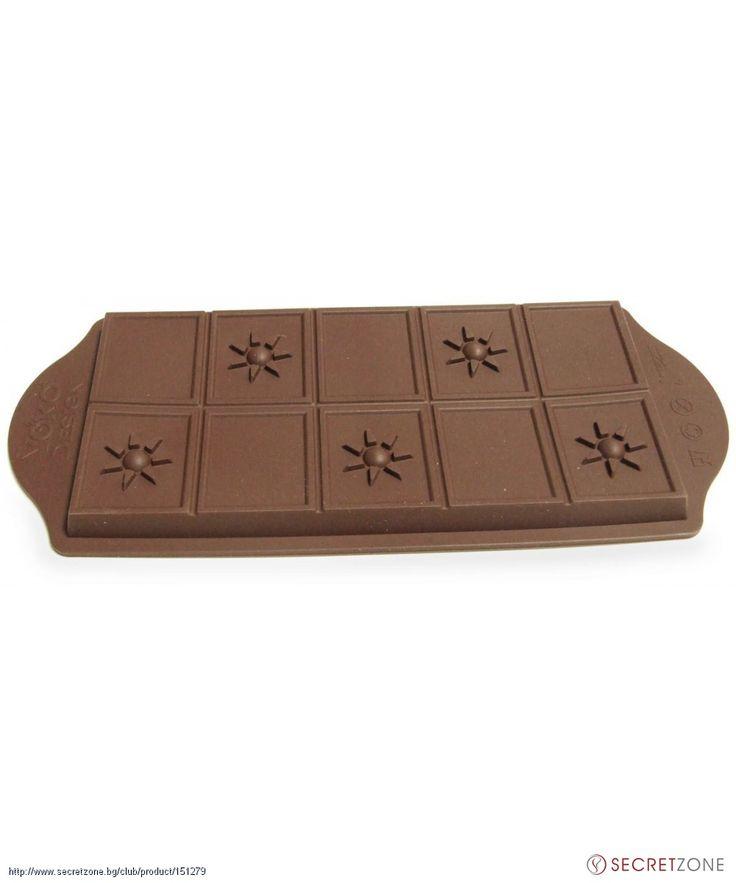 Форма за шоколад в кафяв цвят от Yoko Design | Secretzone.bg