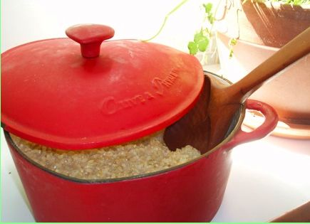 My rice pot...and how to make perfect brown rice every time: http ...