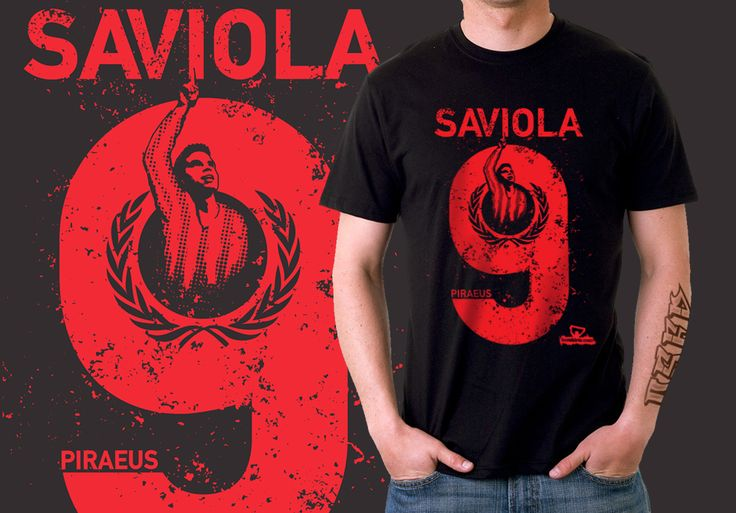 Javier #Saviola's first goal for #Olympiacos was just a preview of what the #Argentine legend is capable of. Share the joy with all your fellow fans, by making this one of a kind #tshirt yours for €18 at http://www.footshirts.com/products/europe/greece/127-saviola-red-9