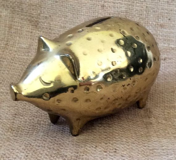 Ben Seibel MidCentury Brass Piggy Bank for by ArchetypeCollection