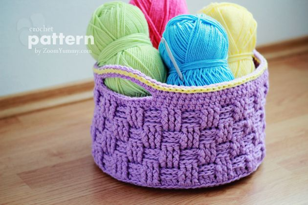 crochet pattern big crochet basket from zoomyummy