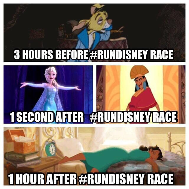 Stages of a #RunDisney race...