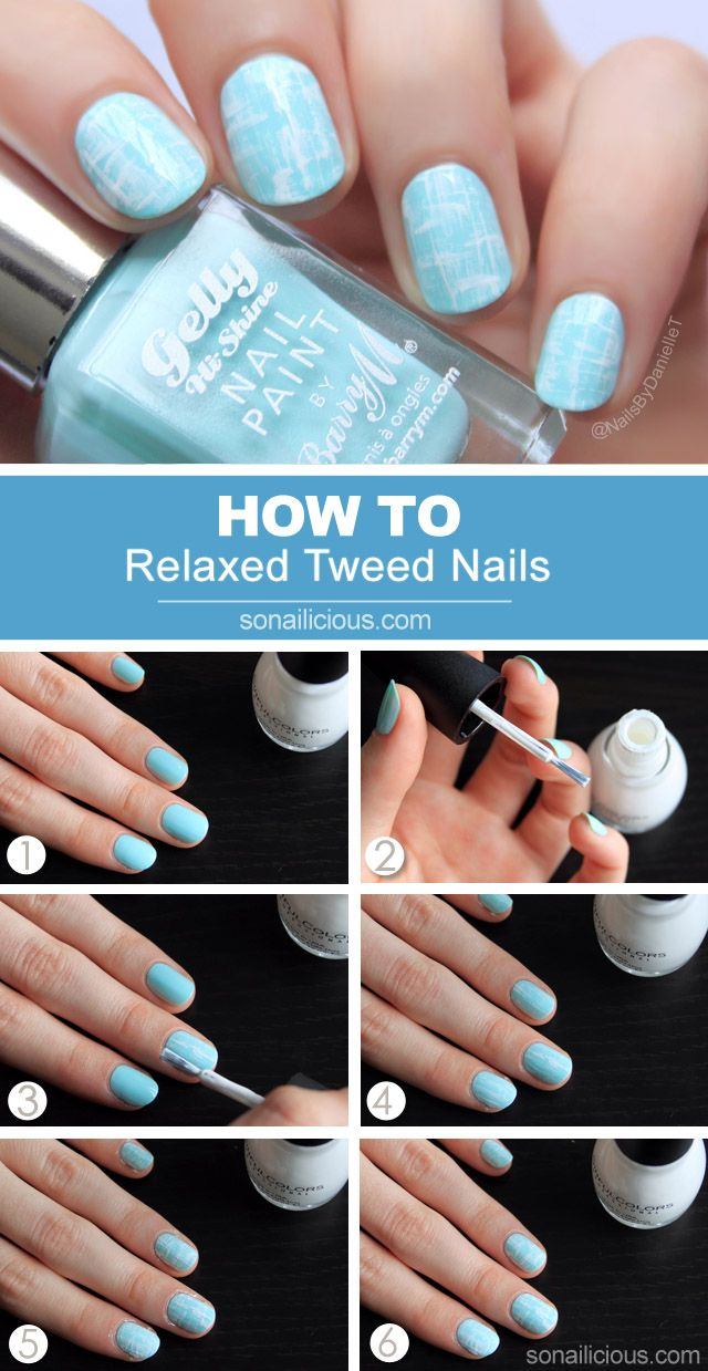 Tweed Nails Tutorial: http://sonailicious.com/relaxed-tweed-nails-tutorial/