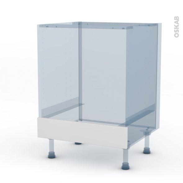 Ginko Blanc Kit Renovation 18 Meuble Bas Four Bandeau Bas L60xh70xp60 Oskab Meuble Bas Renovation Cuisine Oskab