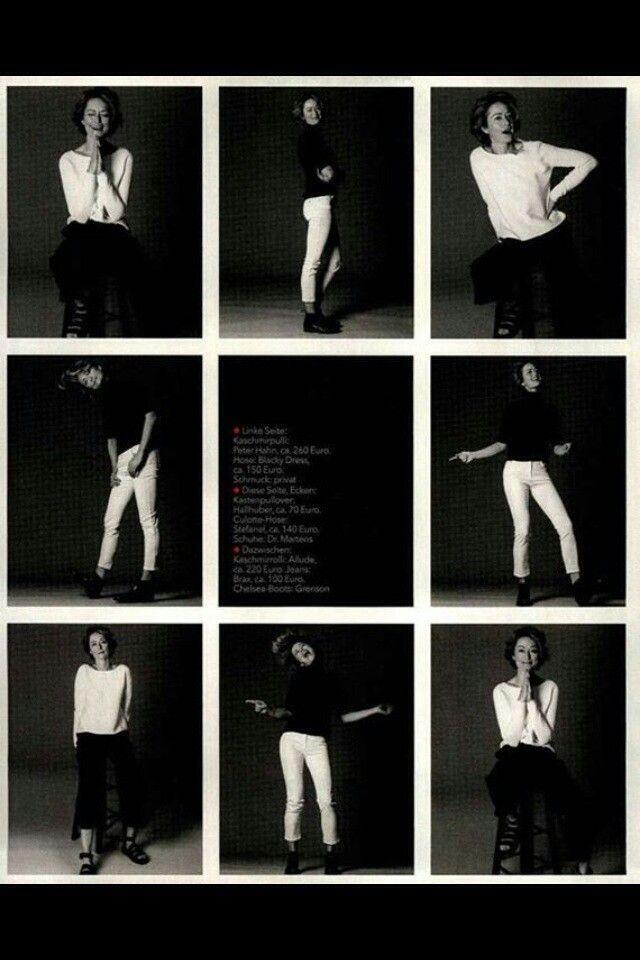 Black and white:brigitte sceglie il pantalone nero stefanel per interpretare 4 differenti