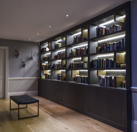 Rupert Bevan - Furniture Commissions | Bespoke Furniture London - Living Room Library Wall
