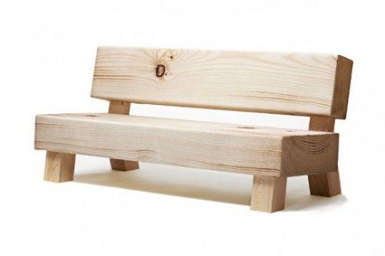 Scofflaw soft wood sofa | Sofa imitation wood