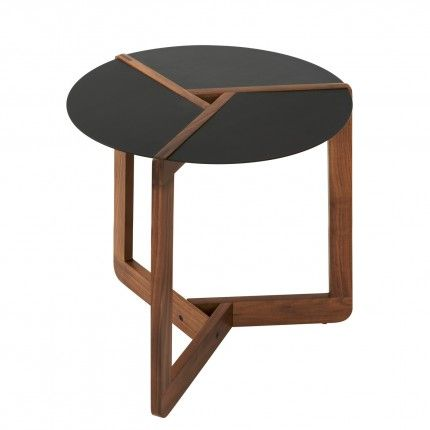 Blu Dot Pi Small Side Table, Walnut Contemporary Side Tables And End Tables