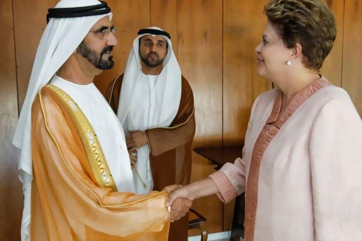 O Vice-Presidente da República manteve reunião de trabalho com o Chefe de Governo dos Emirados Árabes Unidos, no Palácio do Itamaraty.