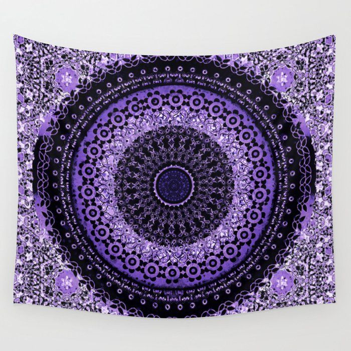 Purple Tapestry Mandala Wall Tapestry By Ninamay Walltapestry